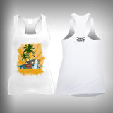 Vintage Woody Sunset - Womens Tank Top - SurfmonkeyGear  - 1