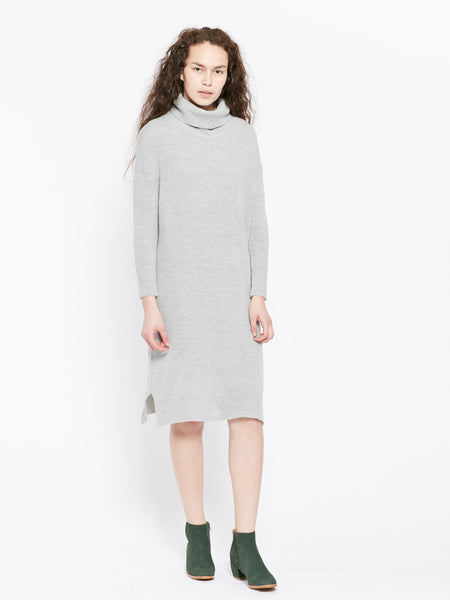 Tube neck knit dress