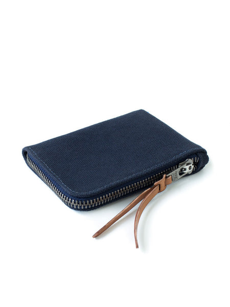 Canvas zip slim wallet