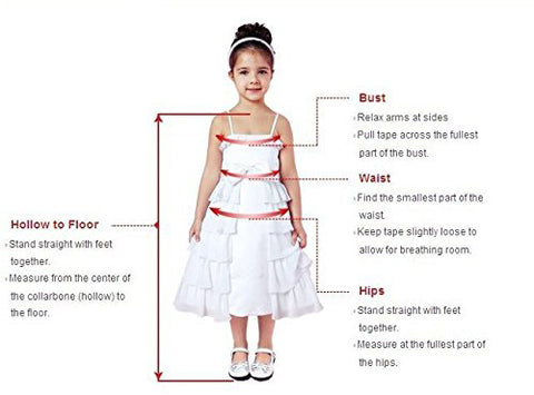 <alt>picture of a beautiful little girl wearing a white dress and measuring instructions how to measure girls for couture gowns</alt>