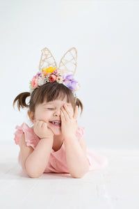 Easter Bunny Ears Flower Halo - Honeydrops Designs