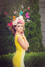 Butterfly Tree Gold Branches Couture Headpiece - Honeydrops Designs
