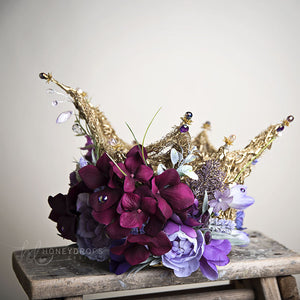 Liquid Gold Lavender Dreams Couture Crown - Honeydrops Designs