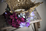 Liquid Gold and Lavender Dreams Couture Floral Princess Crown Photography Prop
