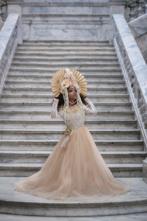 Empress of the Rose Couture Headpiece - Honeydrops Designs