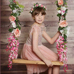 Spring Blossoms Floral Swing Handles Set Custom Order - Honeydrops Designs
