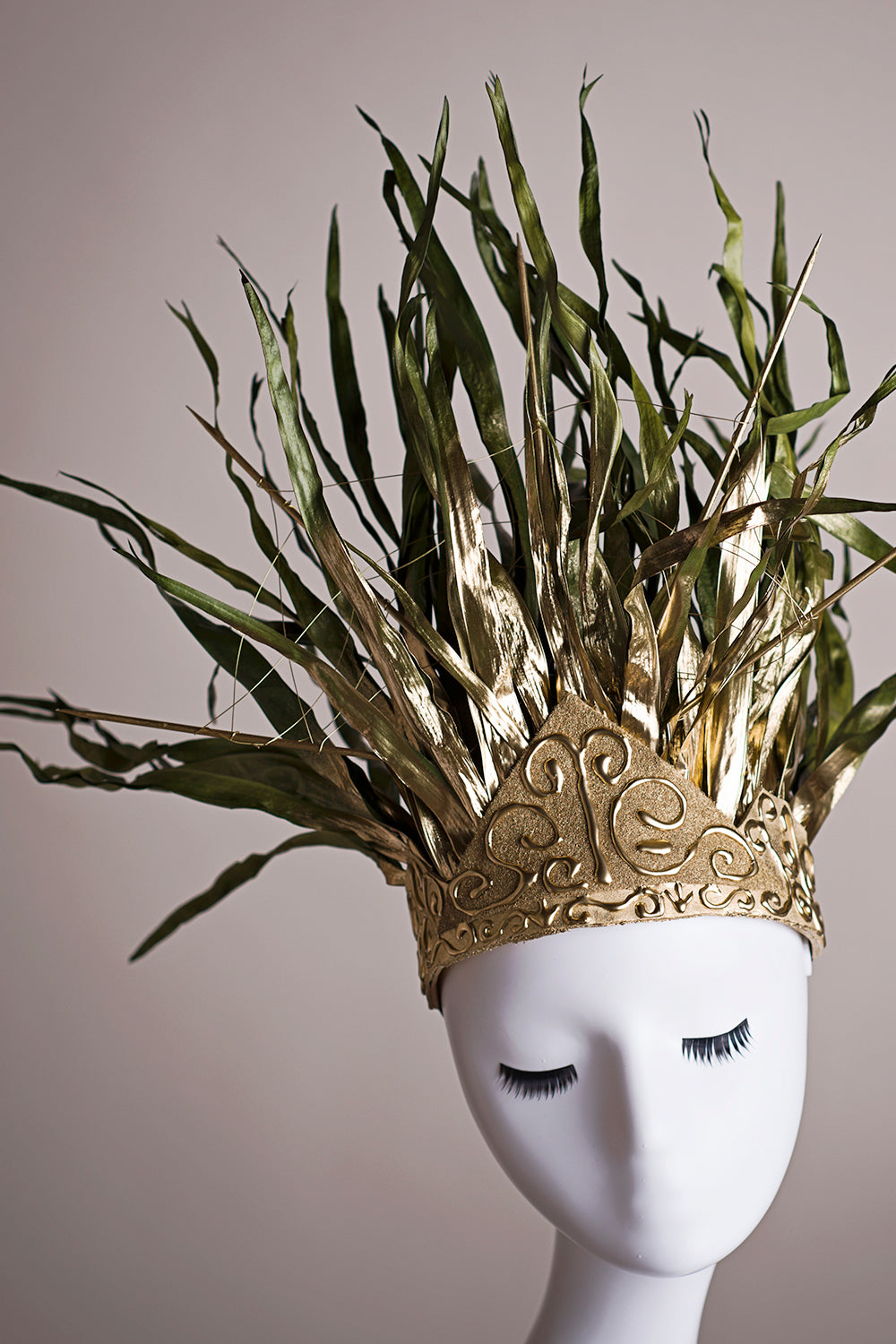 Forrest Warrior Handcrafted Couture Floral Headpiece - Honeydrops Designs