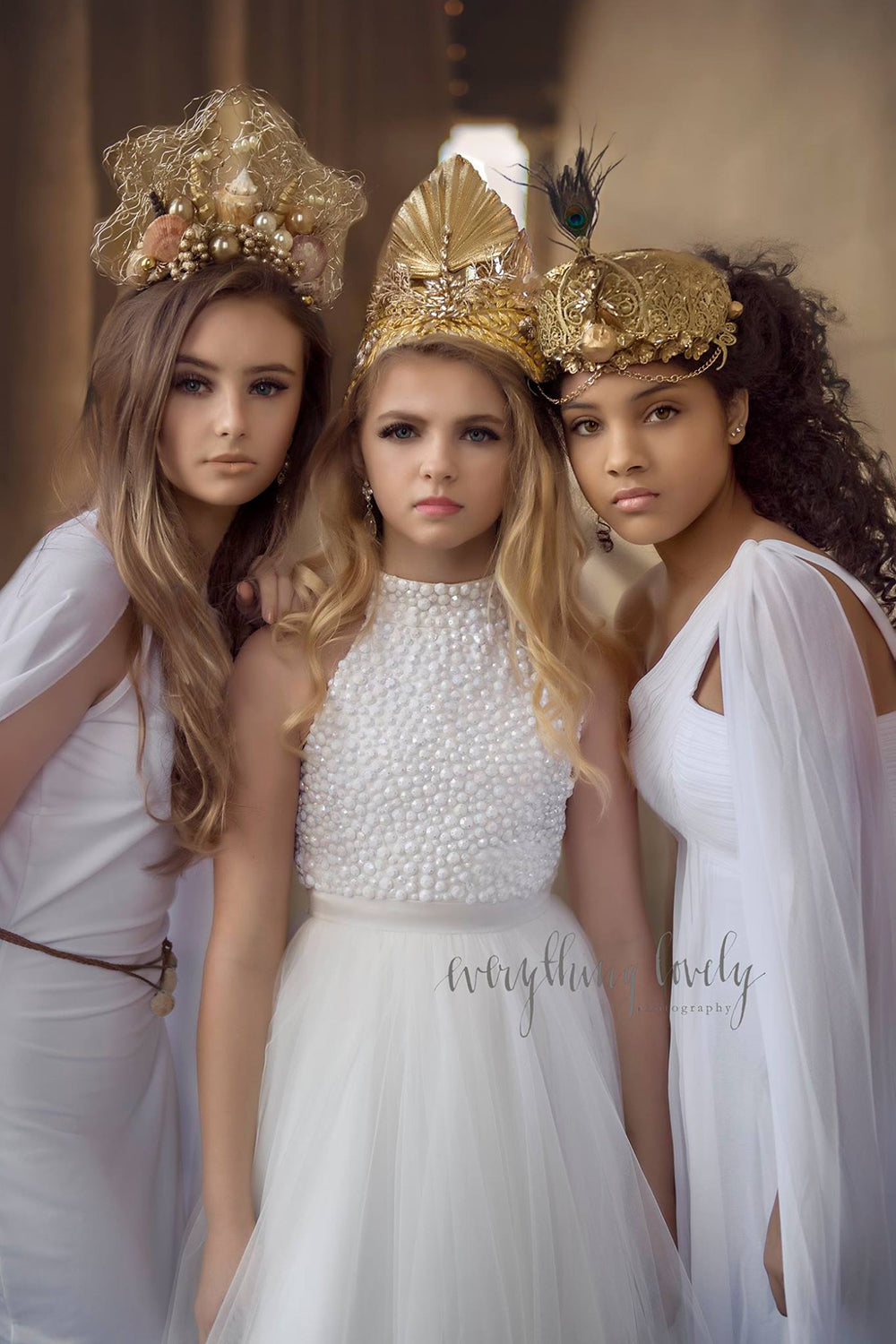 Hera Greek Goddess Marriage Queen Couture Headpiece - Honeydrops Designs