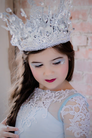 Snow Princess Crystals Rhinestones Crown - Honeydrops Designs