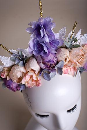 Rays of Spring Couture Floral Headpiece - Honeydrops Designs