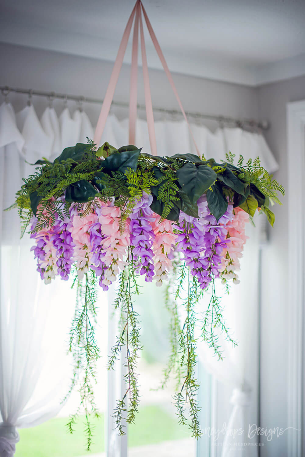 Wisteria Flower Chandelier Baby Mobile Baby Room Girl Nursery Decor - Honeydrops Designs
