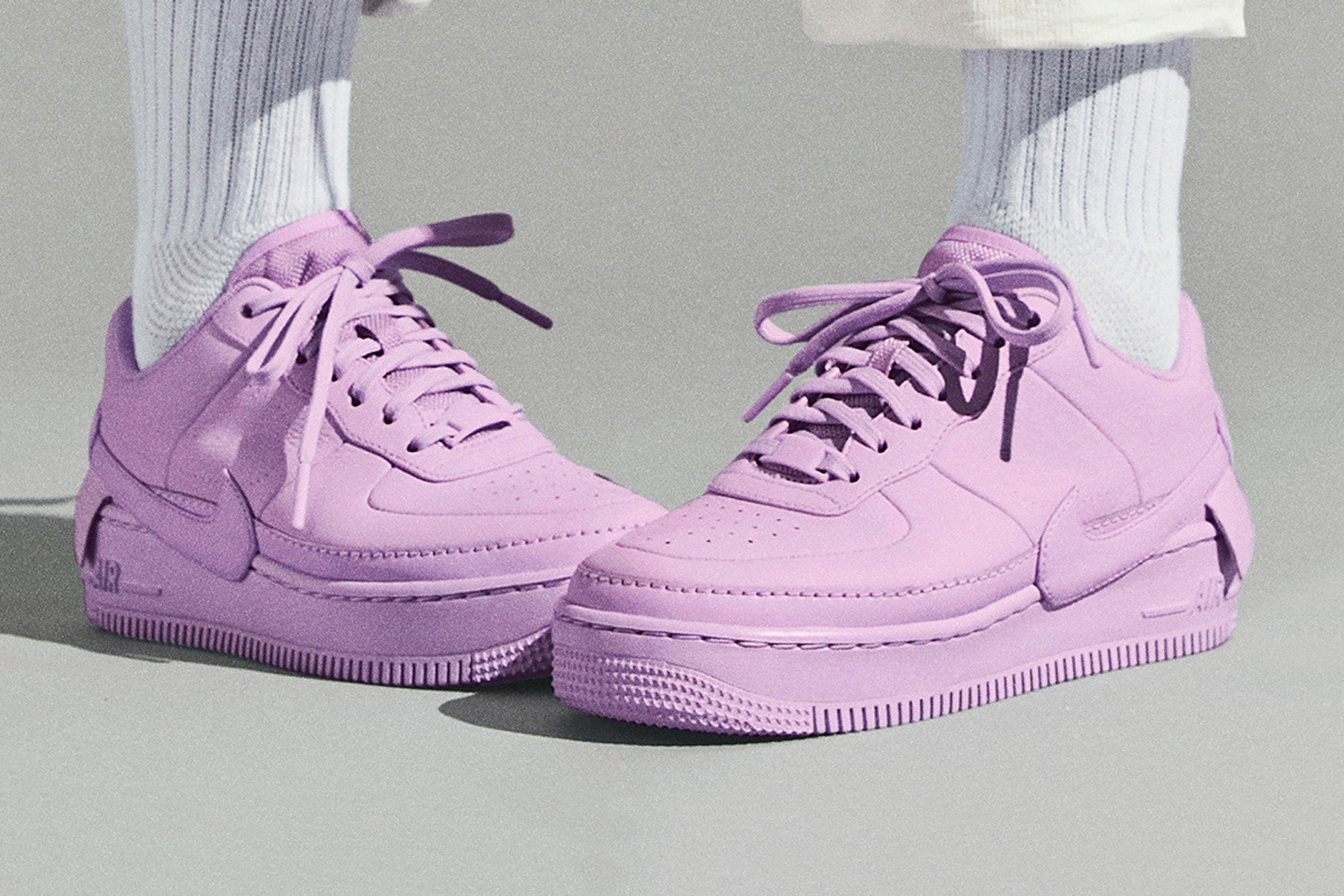 f7f25fb7bd6bf The Nike Air Force 1 Low  JESTER XX  in Violet Mist available at Galeries  Womens