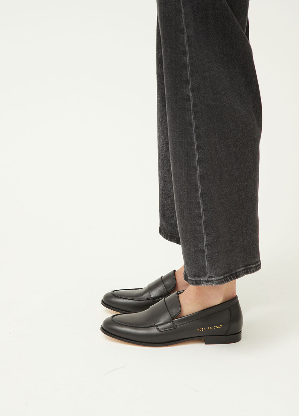 Women's Black Loafer by Common Projects