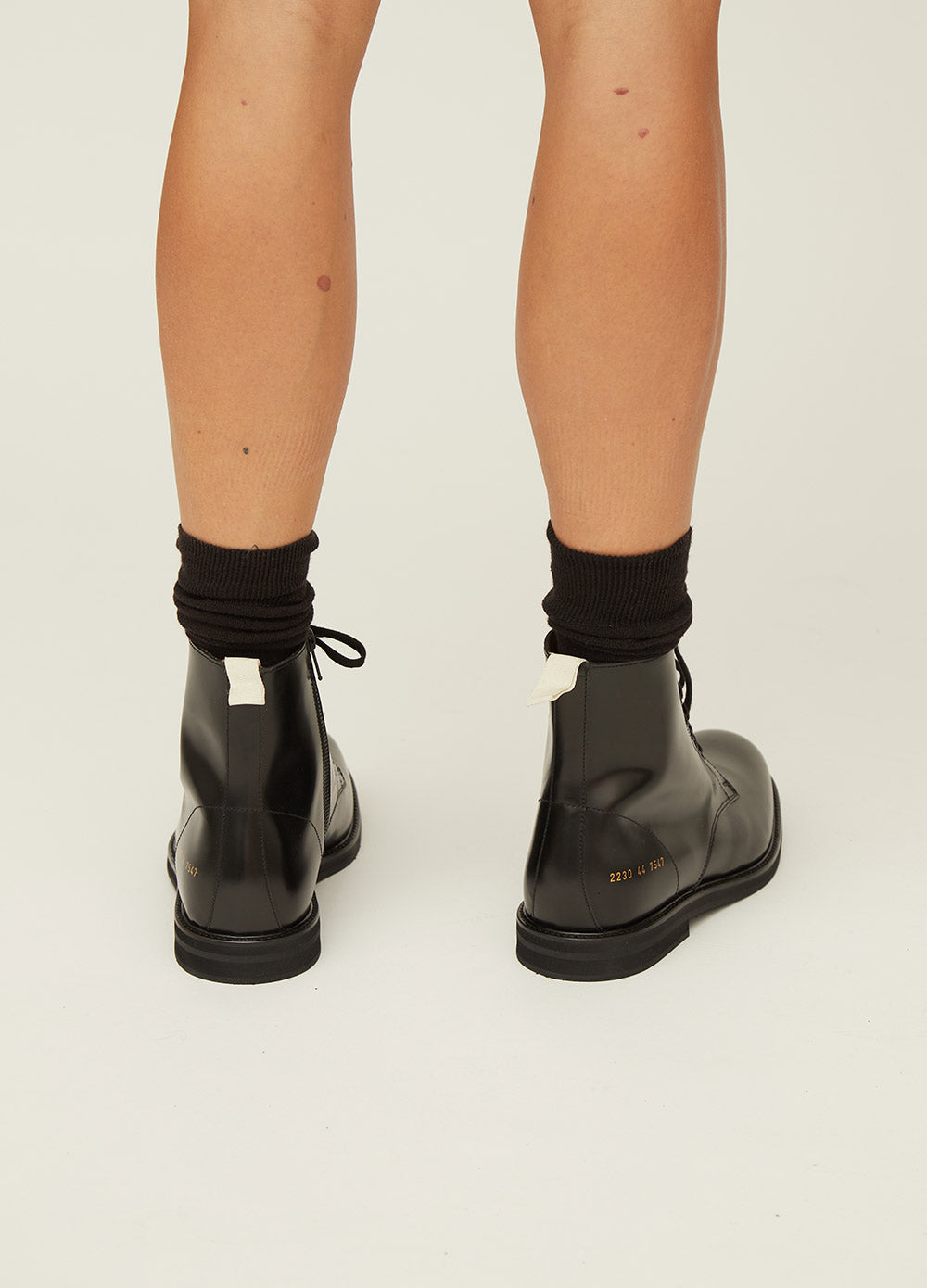 Black Combat Boot by Common Projects   Incu