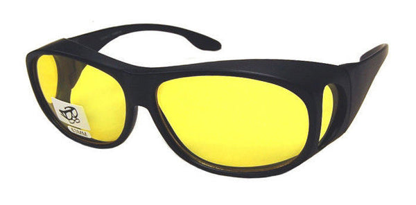 OTG GLARE-X Night Driving Optics Over-the-Glasses Polarized Yellow Lens Black