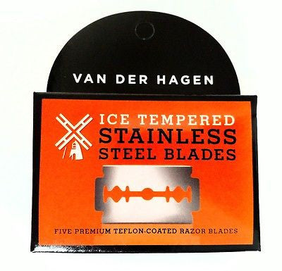 Van Der Hagen Premium Teflon Coated Ice Tempered Stainless Steel Blades 5-pack
