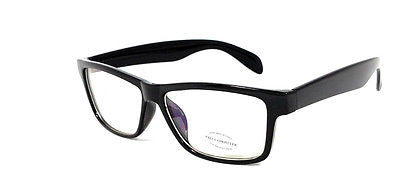 FOCUS ANTI-GLARE Computer Glasses Reduce Blue Light Modern Square Black Glossy