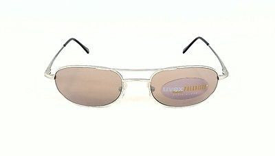 Uvex Elite EL15S01 Vintage Retro Square Aviator Silver w Copper Glass Polarized