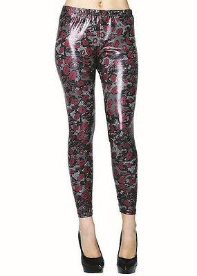 Yelete Lips and Lace Women's Printed Liquid Leggings design by Stella Elyse S/M