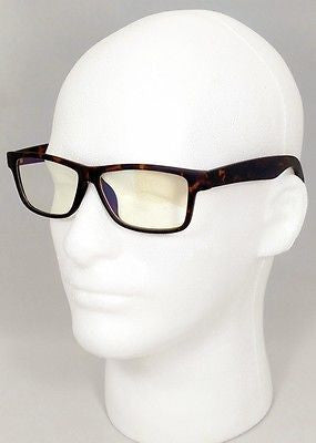 FOCUS ANTI-GLARE Computer Glasses Reduce Blue Light Modern Square Tortoise Glossy