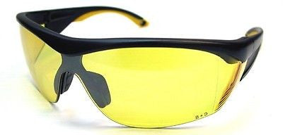 Shooter's Edge ANSI Z87.1 Safety Shooting Glasses Contrast Yellow lens Black frm