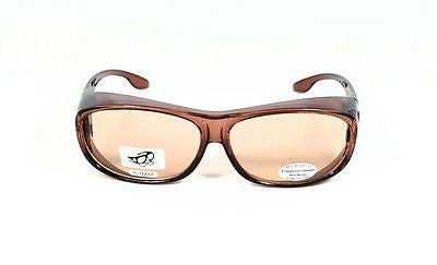 Focus Anti-Glare OTG Computer Glasses Over-The-Glass Reduces Eye Fatigue Brown