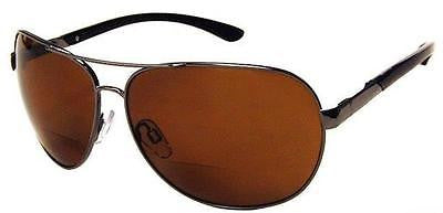 Platinum Edge Malibu Polarized Polycarbonate Bifocal Aviator Sun Readers unisex