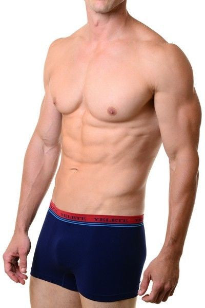 Yelete Men's 2-Pack Performance Boxer Briefs Seamless Underwear Small-Medium