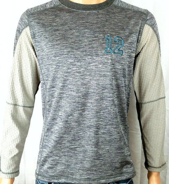 Seattle Seahawks inspired 12 Go Hawks Micro Fleece Base Layer Navy Heather Gray