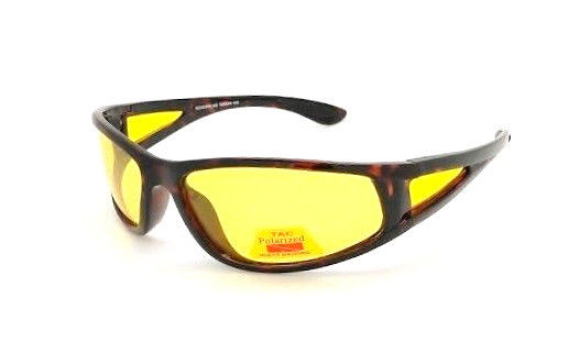 Focus Anti-Glare Night Driving Glasses Polarized Yellow Lens Glossy Tortoise