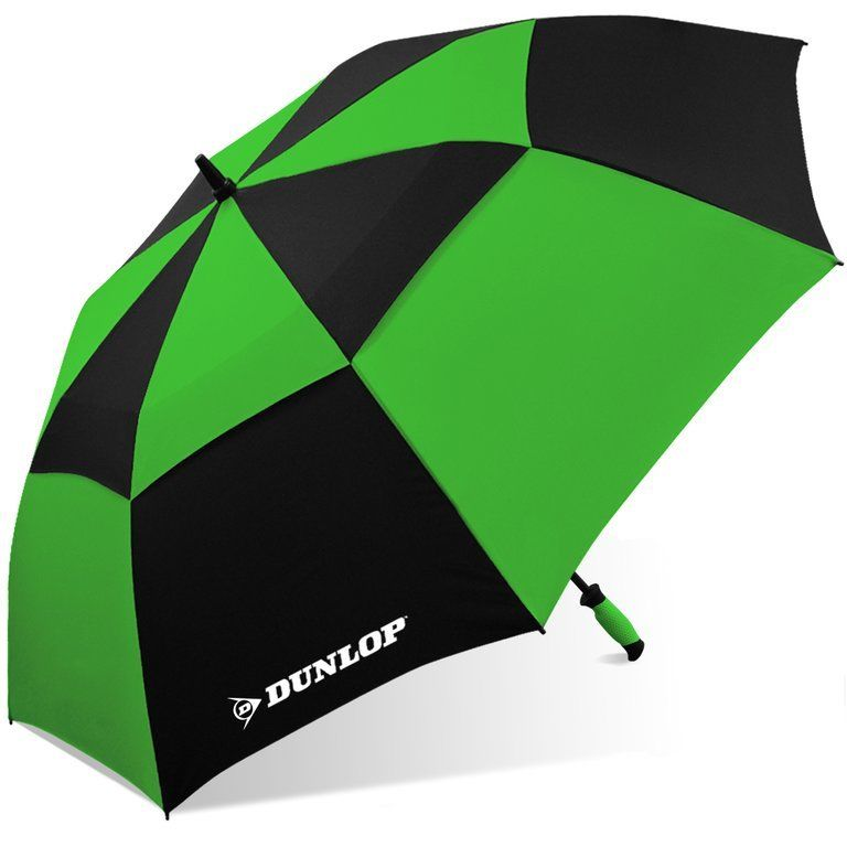 "Dunlop 60"" Double Canopy Folding 2-Person Golf Umbrella Windproof Vented"