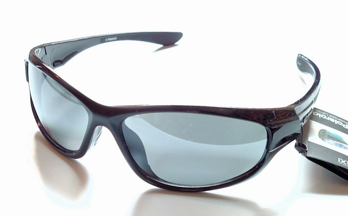 Polaroid PD281114A Black Sport Wrap Gray Polarized Lens