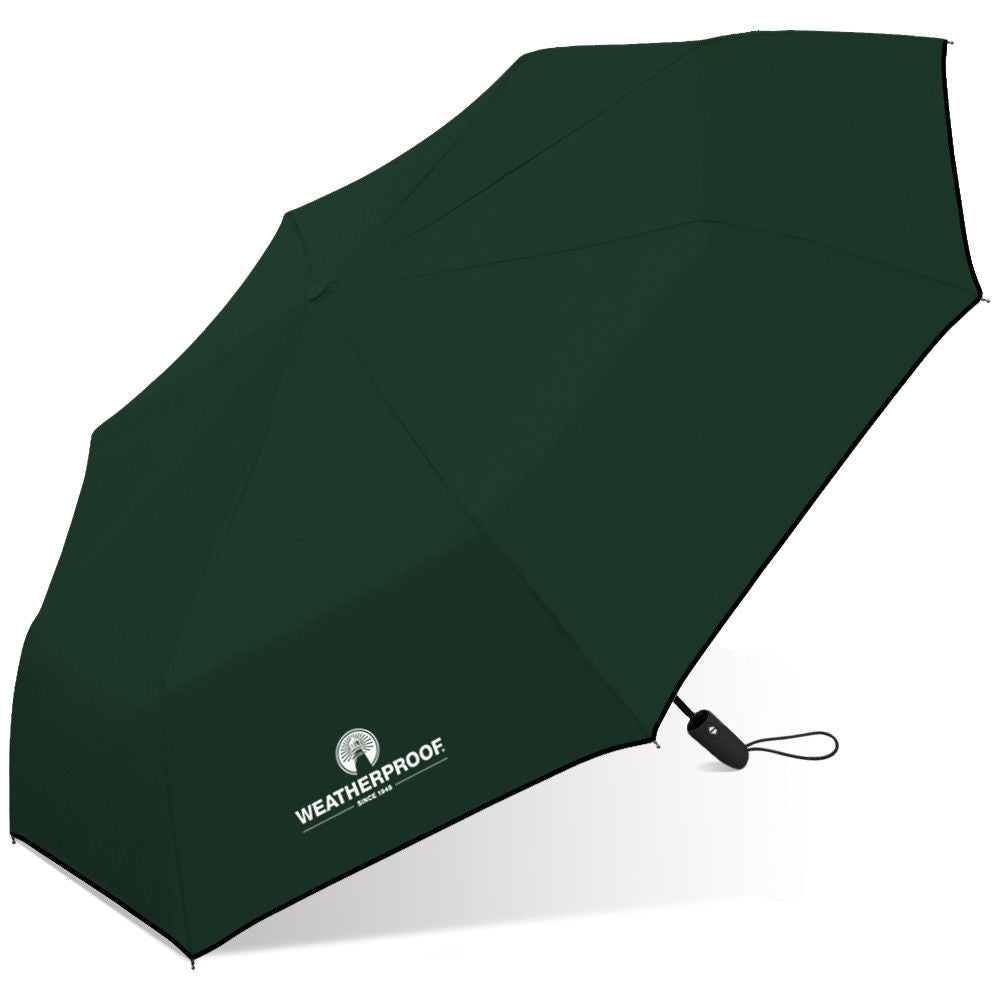"WeatherProof 42"" Auto Open & Close Super Mini Umbrella Solid colors"
