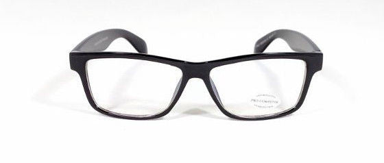 FOCUS ANTI-GLARE Night Driving Glasses Reduces Glare Modern Square Black Glossy
