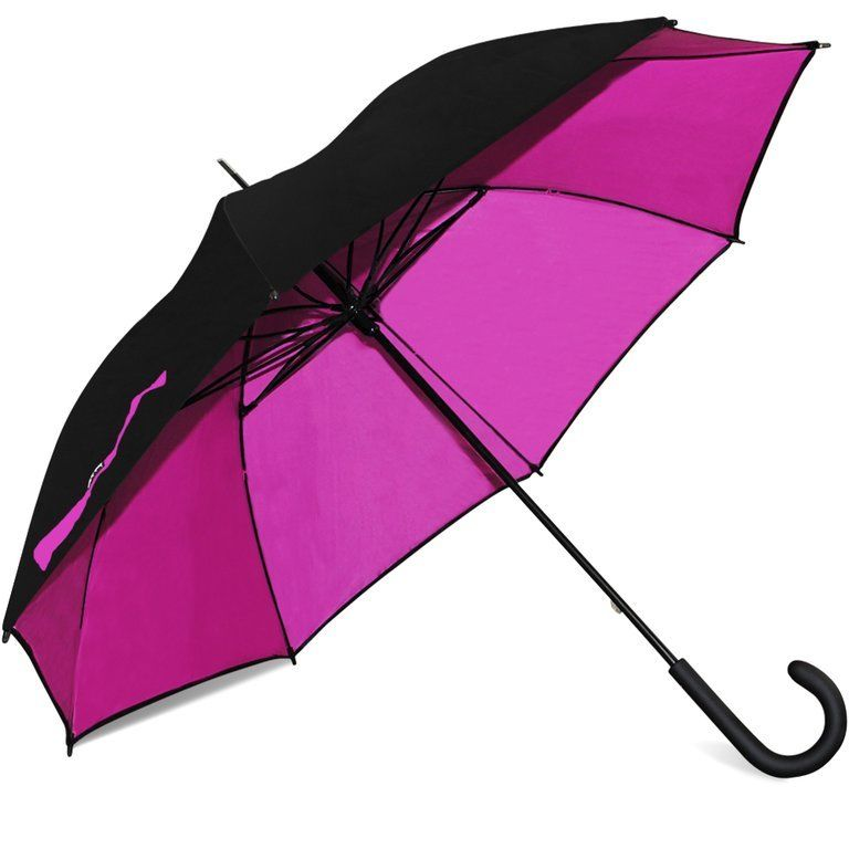 "Nicole Miller 48"" Windproof Two-Tone Stick Umbrella"