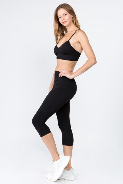 Women's Active High Rise Cinched Ankle Seamless Leggings