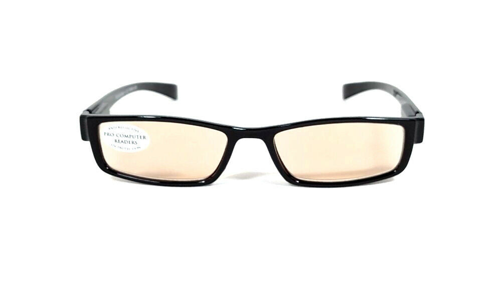 FOCUS ANTI-GLARE Computer Glasses Reduces Blue Light & Fatigue Black Half-Eye