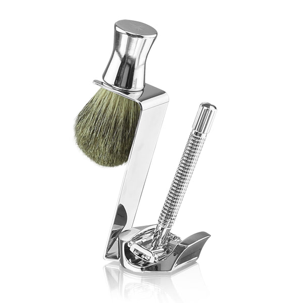 Van Der Hagen Bottoms Up Platinum Shave Set