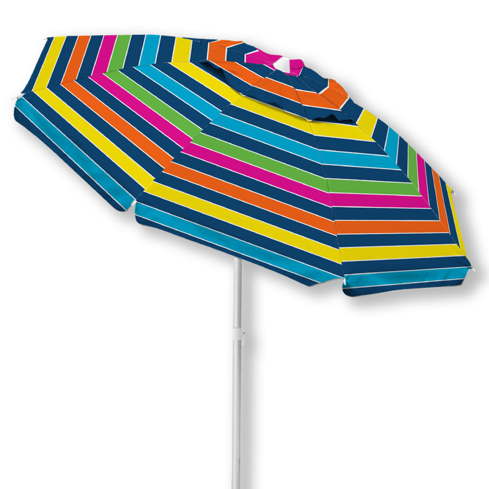 Caribbean Joe 6.5 Ft. Beach Umbrella with UV multiple colors