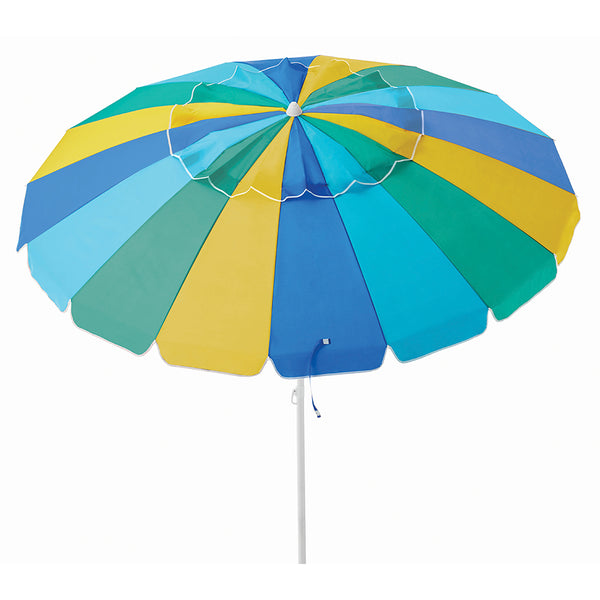Caribbean Joe 8 Ft. Beach Umbrella with UV multiple colors