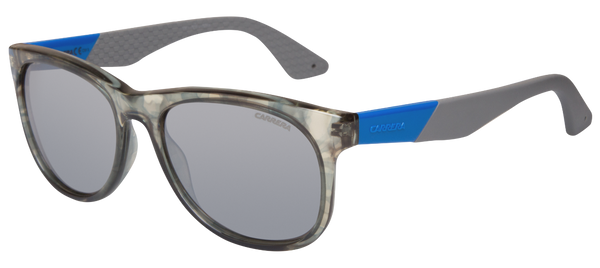 Carrera 5010/S Modern Square Crystal Camo Gray Adjustable Temples mirror lens