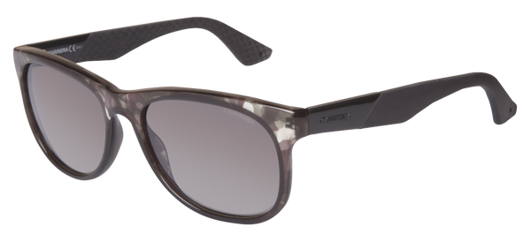 Carrera 5010/S Modern Square Crystal Camo Gray Adjustable Temples Gradient lens