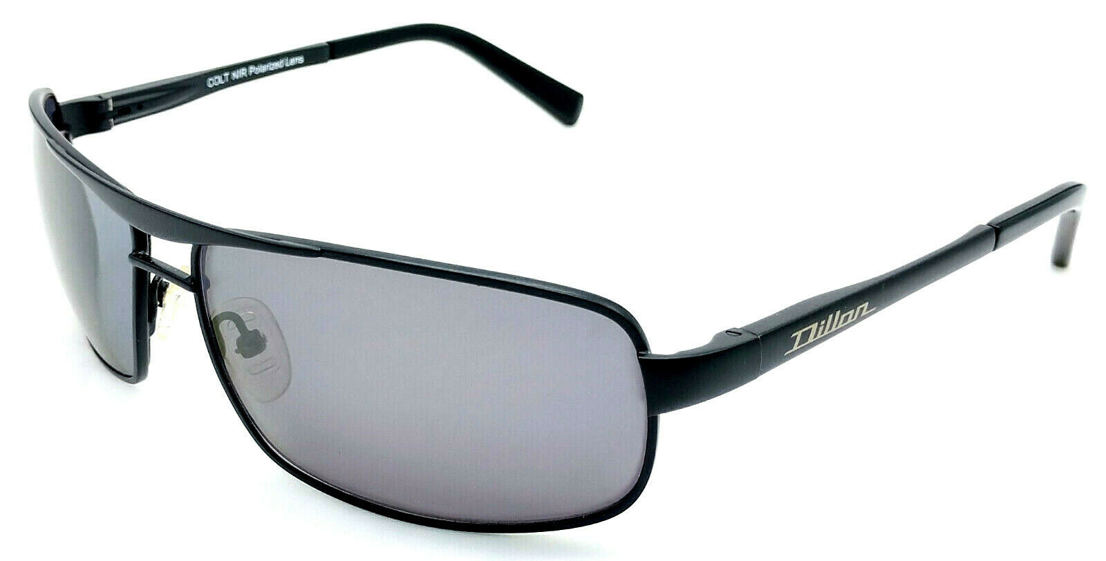 Dillon Optics Colt Metal Rectangle Aviator Matte Black with Black NIR lens