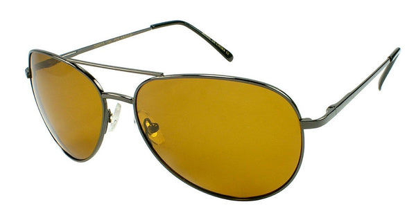 FLY-DEF High-Definition Polarized Fishing sunglasses Gold Lens Metal Teardrop Aviator