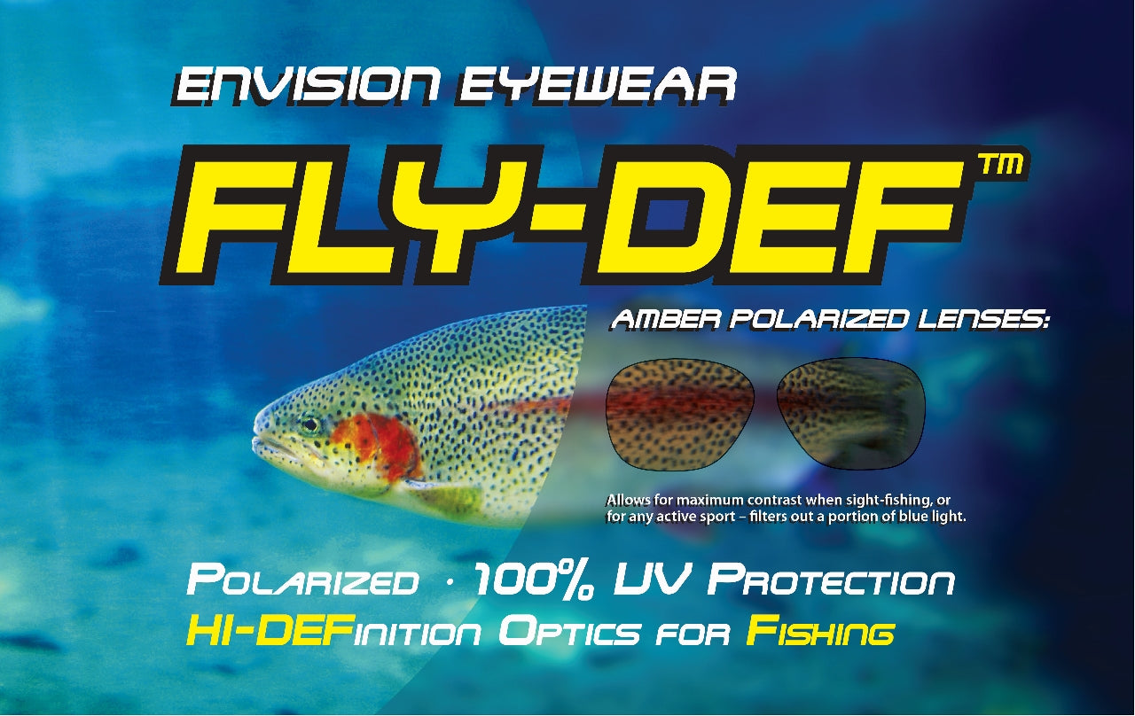 FLY-DEF High-Definition Polarized Fishing sunglasses Gold Lens Sports Wrap