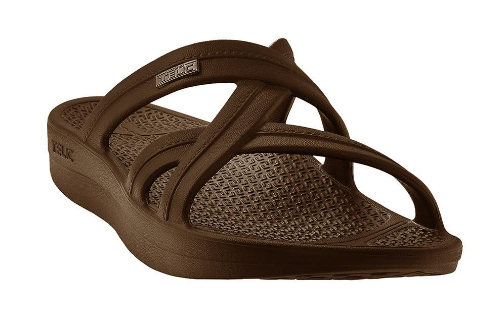 TELIC Mallory Sandal Lightweight Waterproof Comfort Recovery Espresso Brown