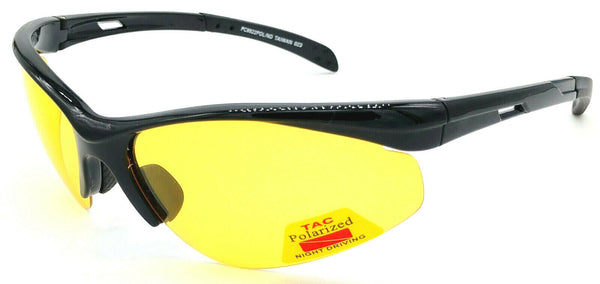 GLARE-X Night Driving Optics Yellow Polarized Lenses Reduce Glare Semi-Rimless
