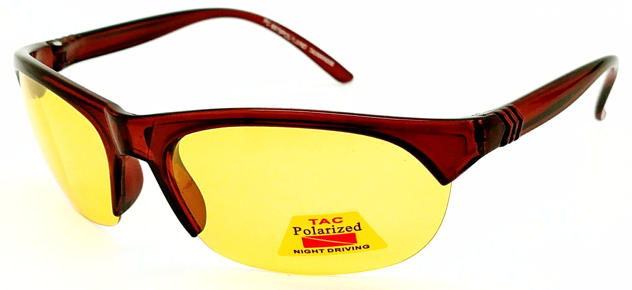 FOCUS ANTI-GLARE Night Driving Glasses Polarized Yellow Lens Reduces Glare Blade