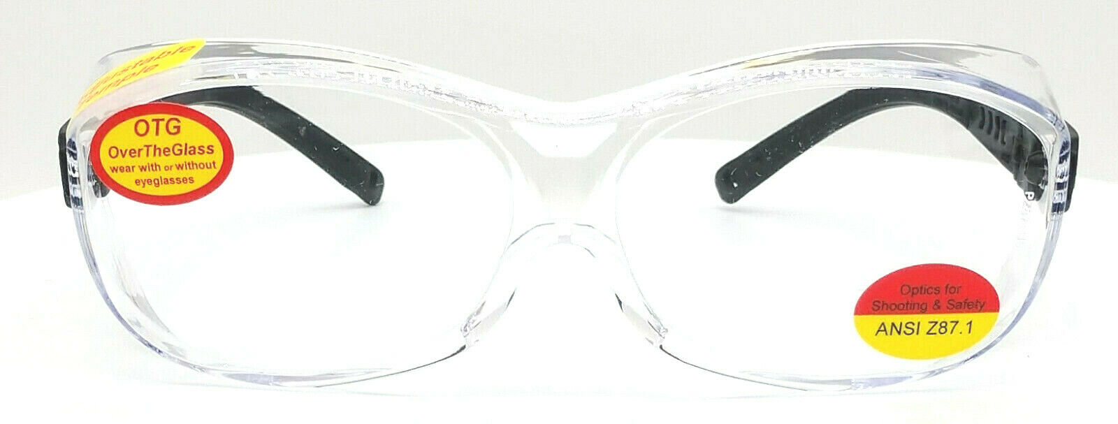Shooter's Edge OTG Over-the-Glasses Z87.1 Safety Shooting Glasses Clear Lens