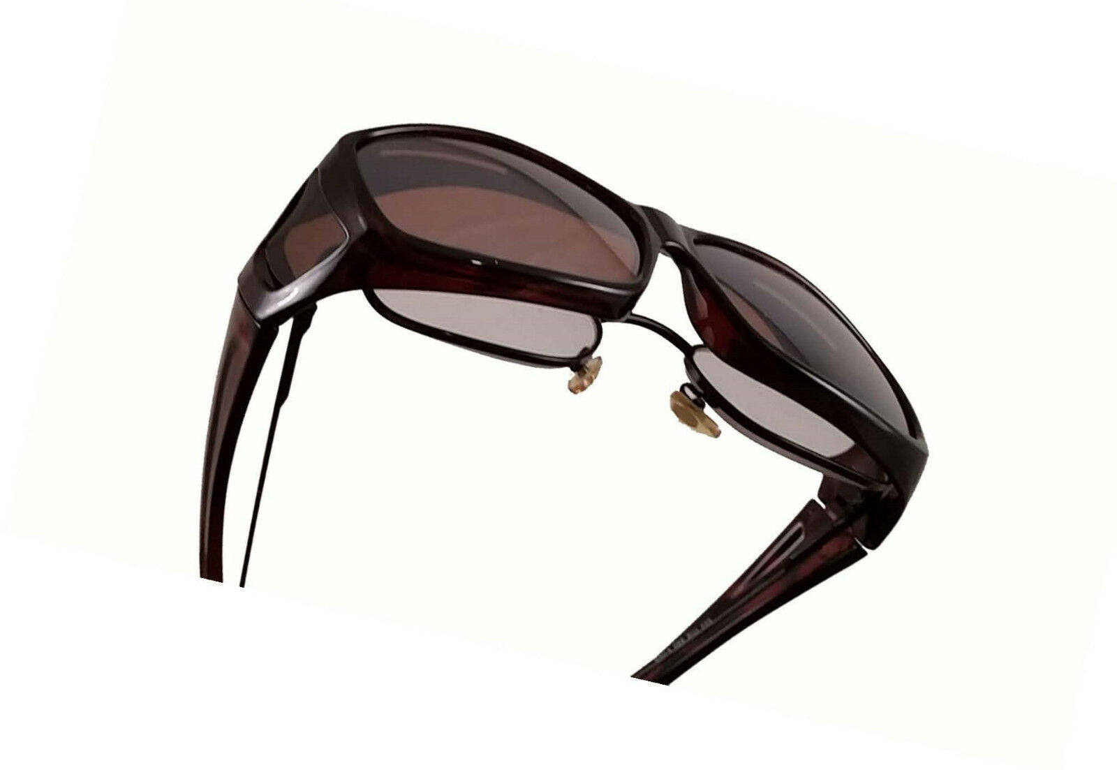 OTG Over-The-Glasses Polarized Brown Lens Ventilated Black sideview frame - multiple sizes available